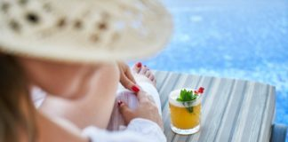 Woman at Resort Pool earn Referral Points at Garza Blanca